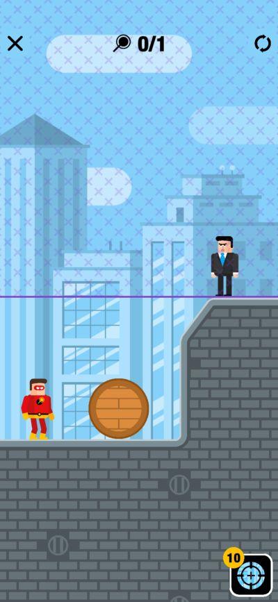 barrel throw the superhero league