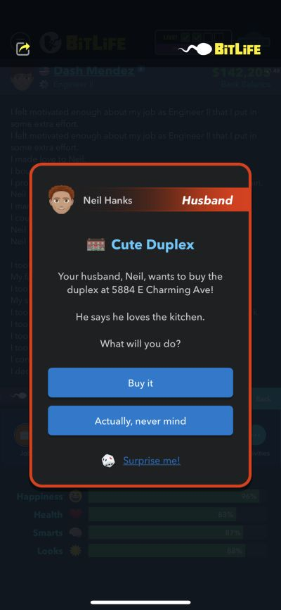 buying a house in bitlife