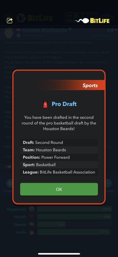 pro draft in bitlife