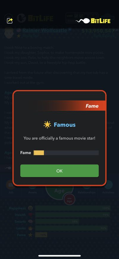 becoming a famous movie star in bitlife