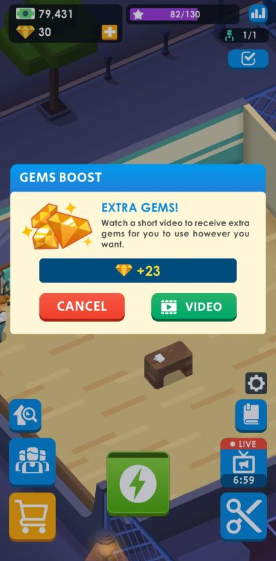 gems boost idle barber shop tycoon