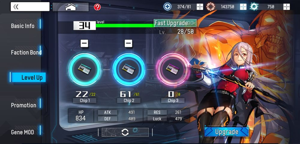 upgrading units in kingsense