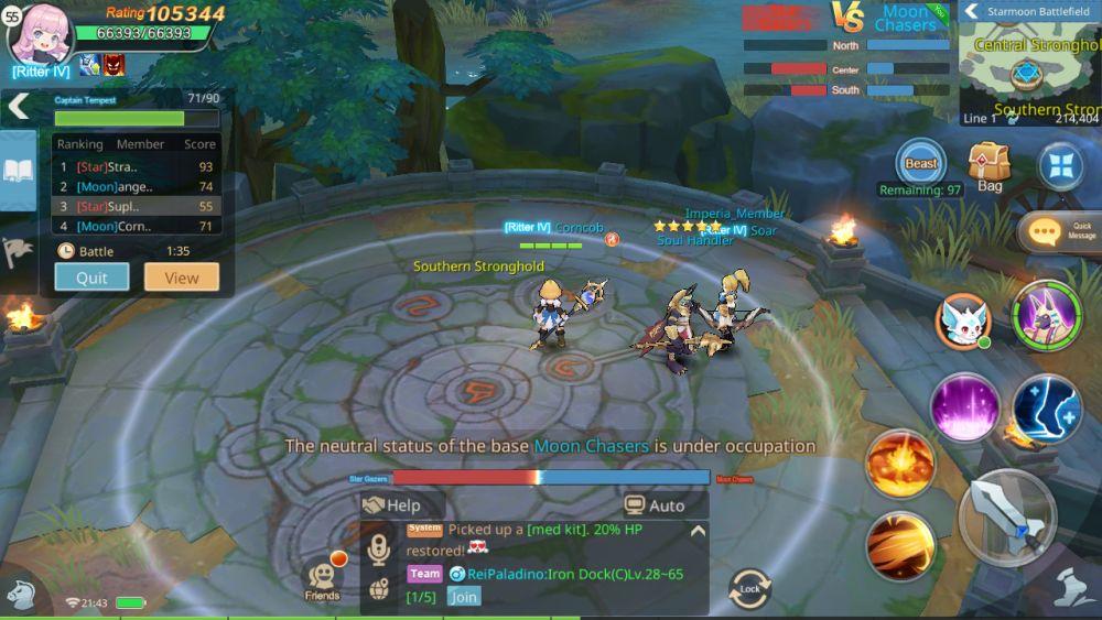 pvp battle guardians of cloudia