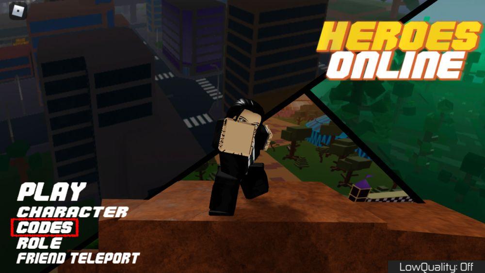 roblox heroes online codes step 2