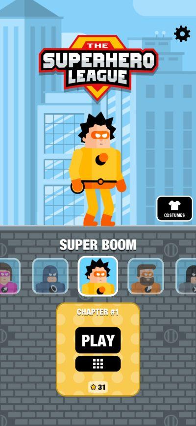 super boom the superhero league