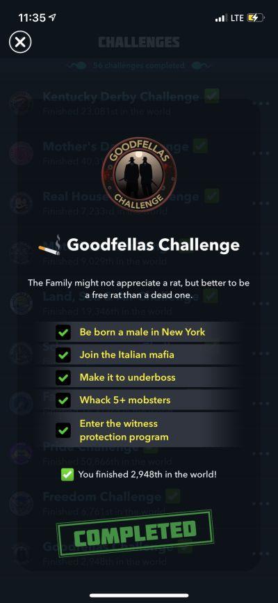 bitlife goodfellas challenge requirements