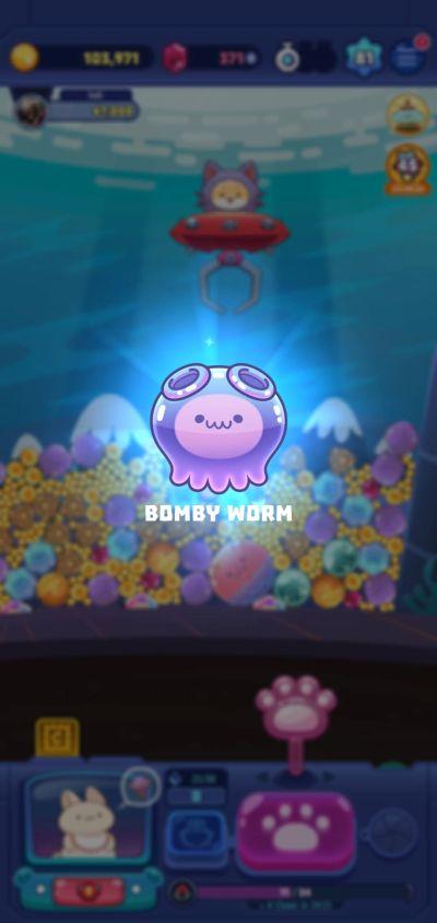 claw stars bomby worm