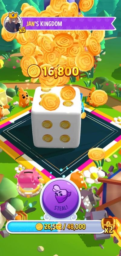 stealing gold in dice dreams