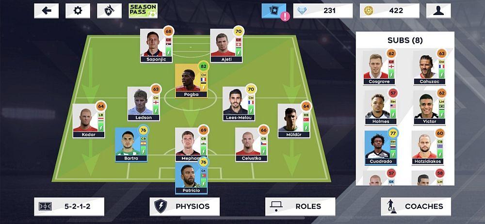 dream league soccer 2021 5-2-1-2 formation