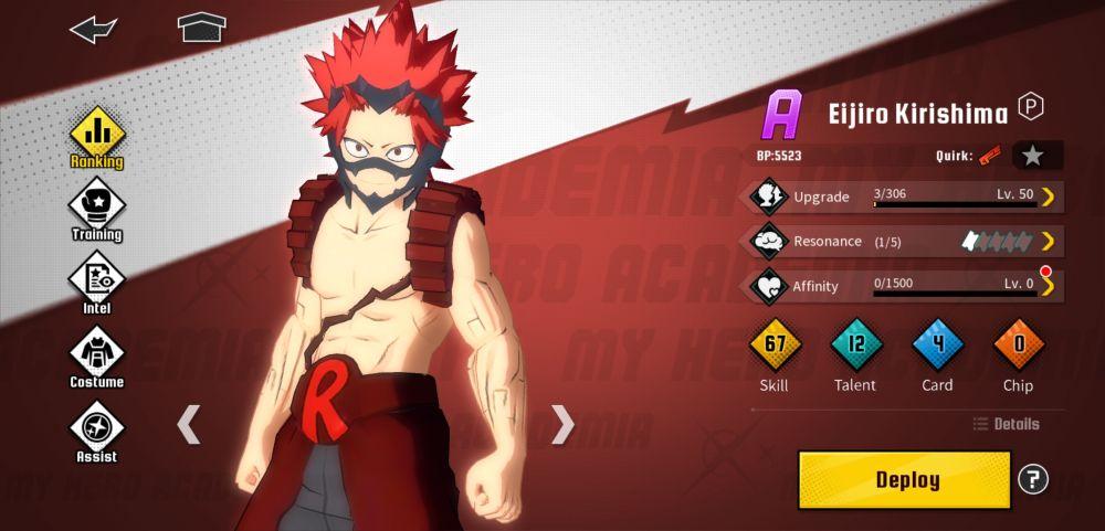 eijiro kirishima my hero academia the strongest hero
