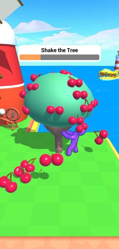 farm land shake the tree mini game