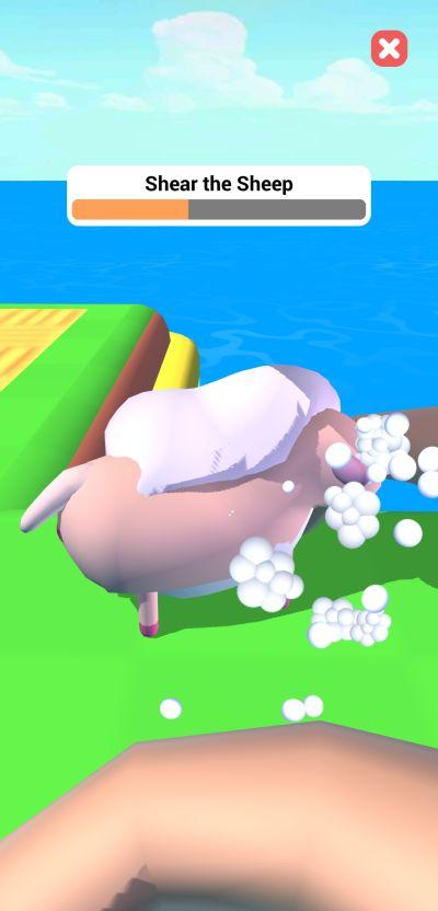 farm land shear the sheep mini game