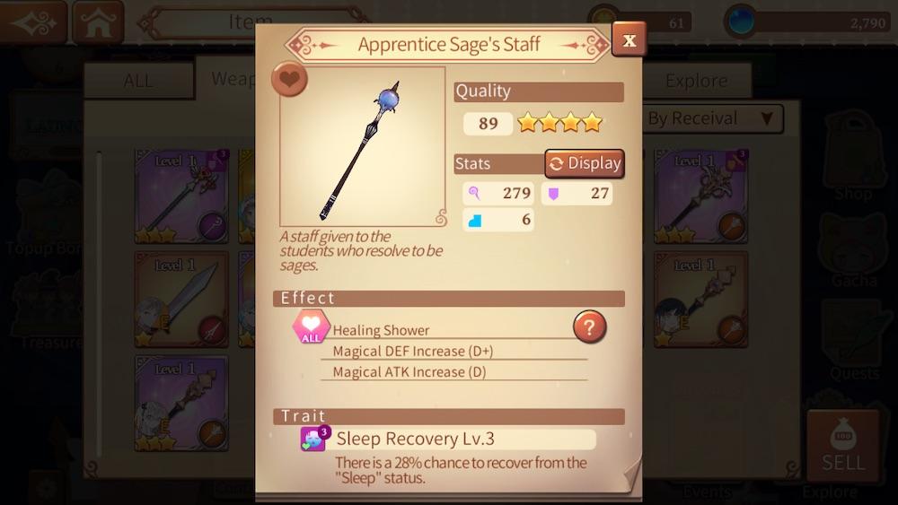 healing stick in atelier online alchemist of bressisle