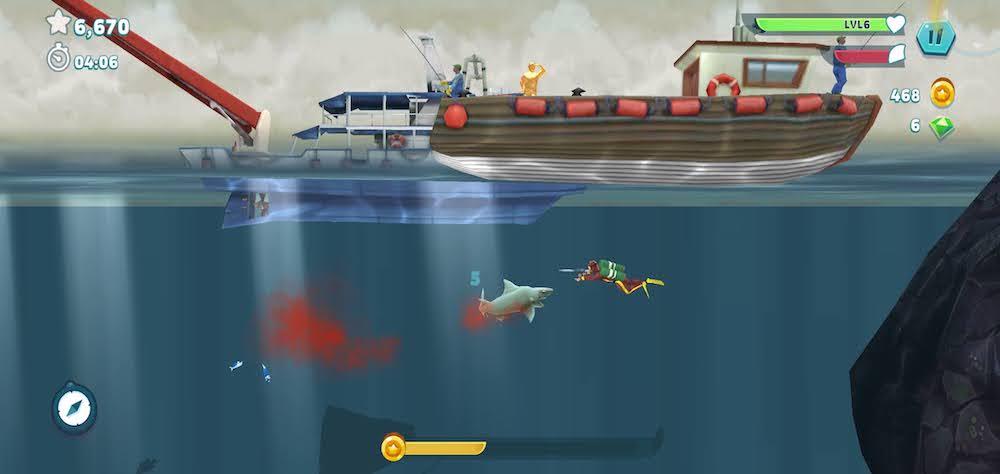 hungry shark evolution sea creature