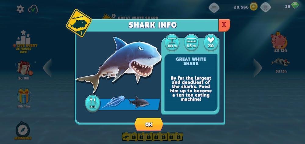 hungry shark evolution shark info