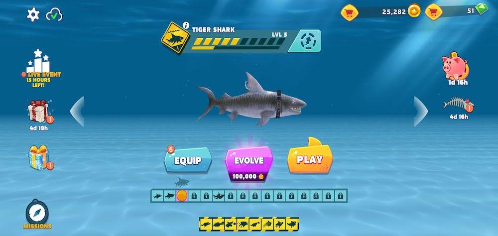 hungry shark evolution tiger shark