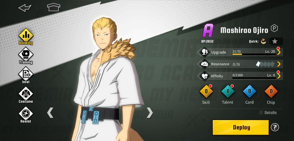 mashirao ojiro my hero academia the strongest hero