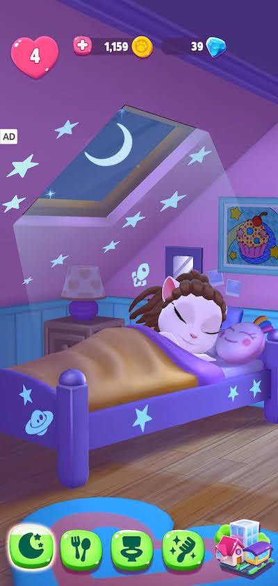 resting in my talking angela 2