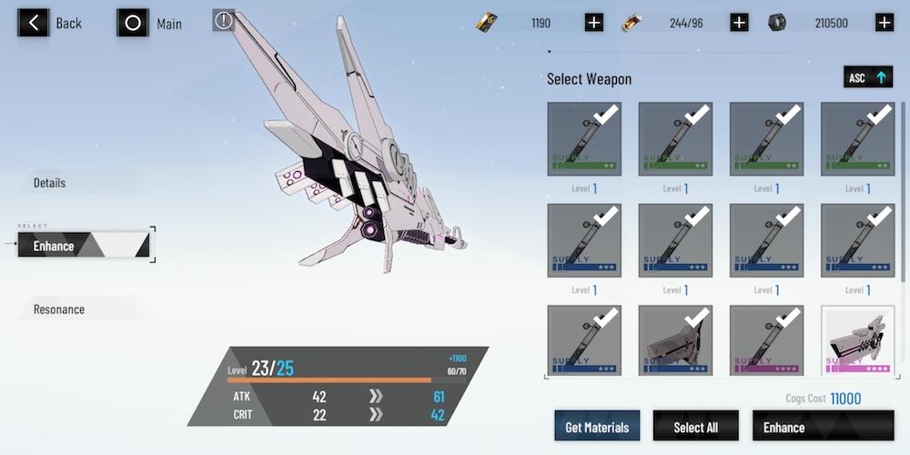 punishing gray raven weapon