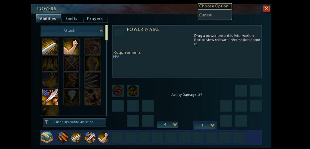 runescape abilities