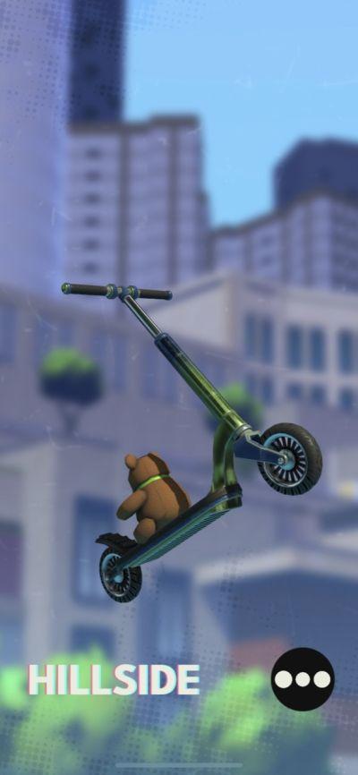 touchgrind scooter hillside