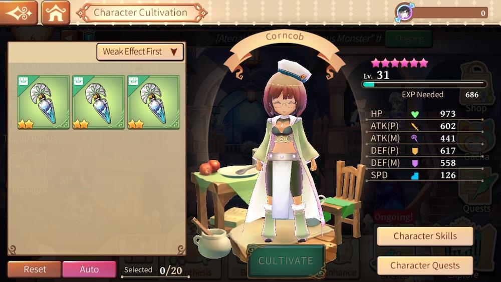 atelier online alchemist of bressisle character cultivation