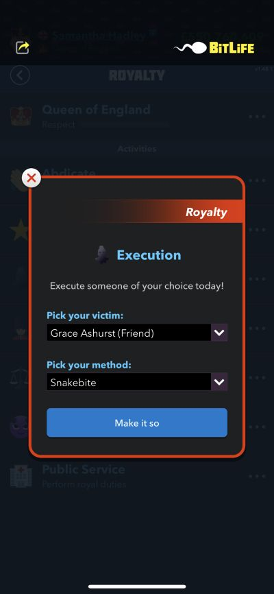 execution in bitlife