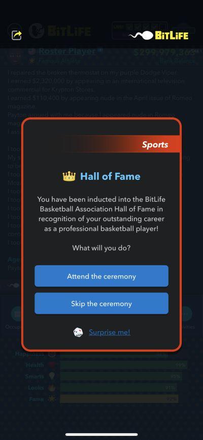 basketball hall of fame in bitlife