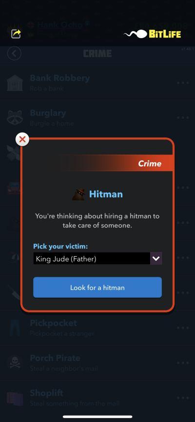 hiring a hitman in bitlife