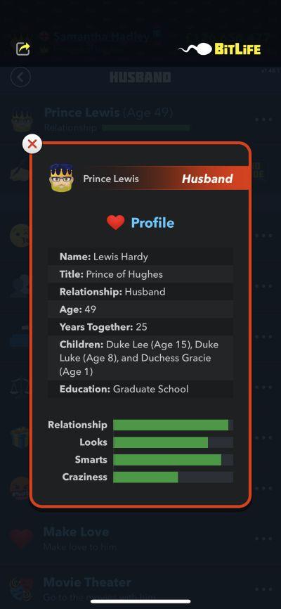 husband profile in bitlife