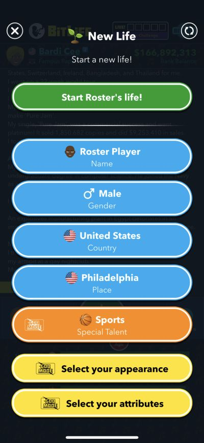 special talent in sports in bitlife