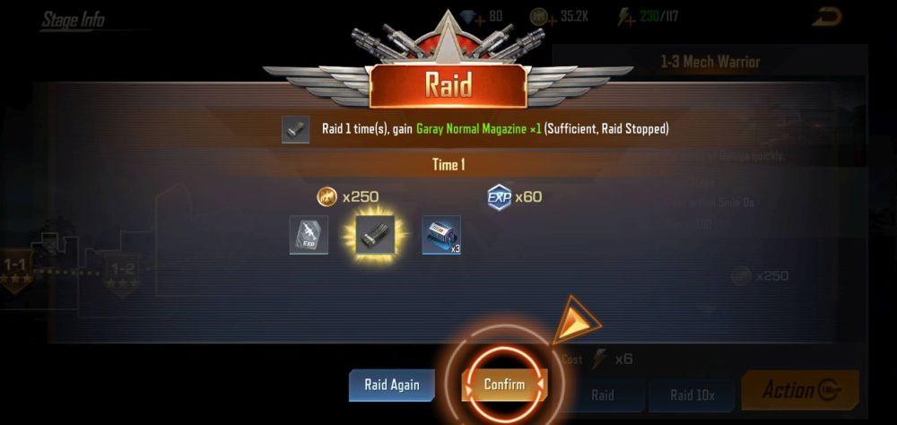 contra returns raid
