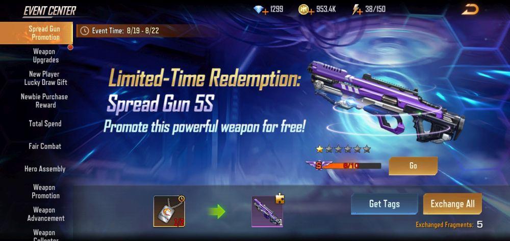 contra returns spread gun promotion