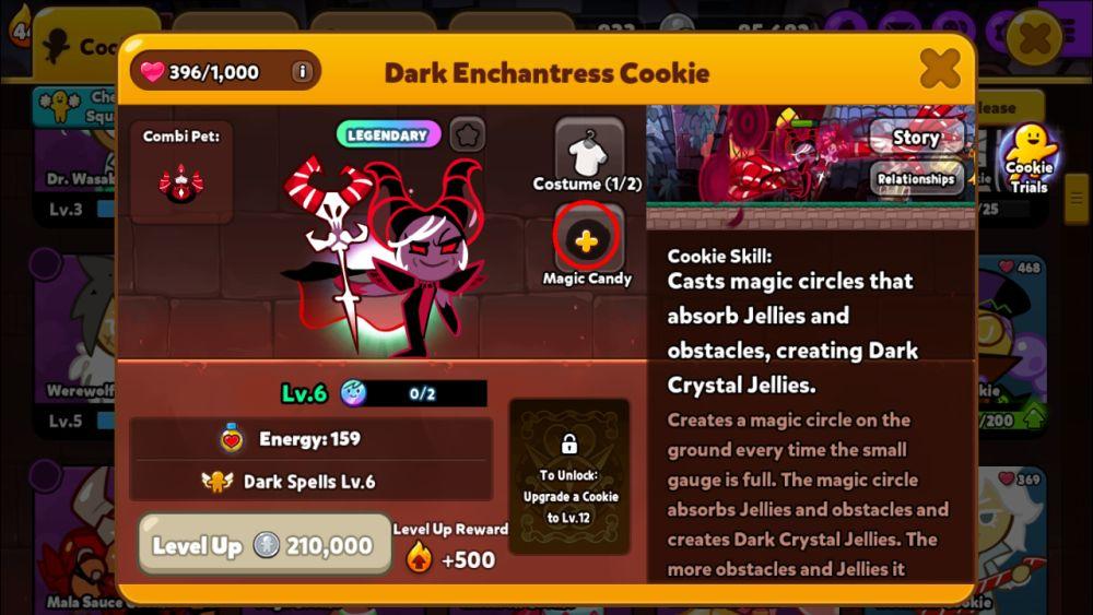 cookie run ovenbreak dark enchantress cookie