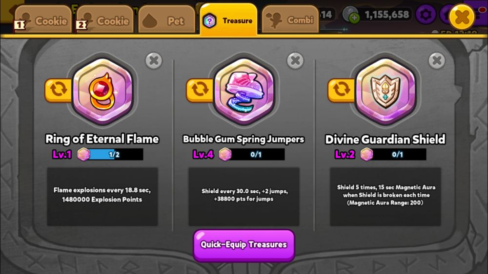 cookie run ovenbreak gear for the objective
