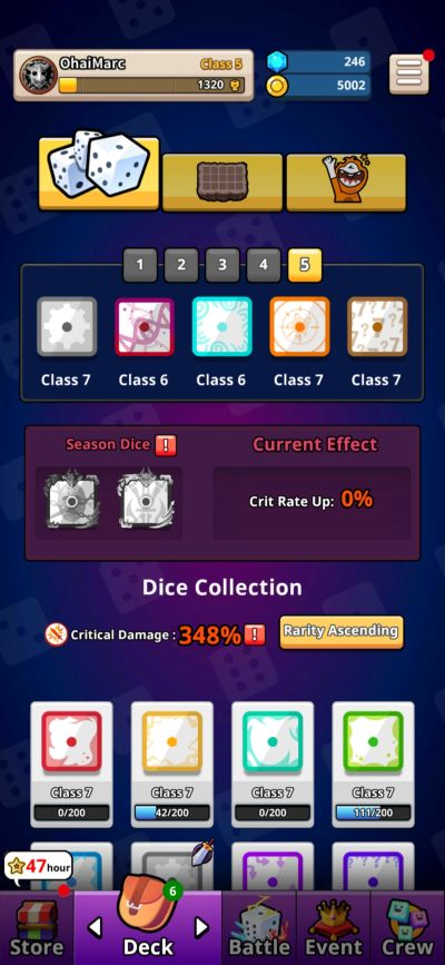 random dice experimental deck