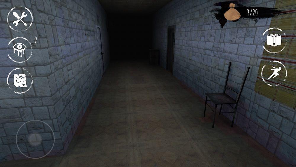 eyes the horror game f1 hallway