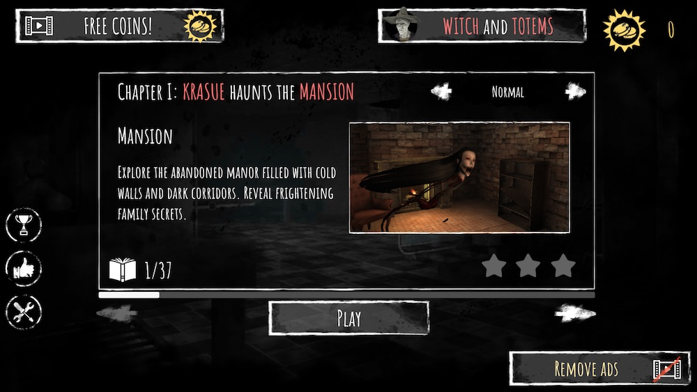 eyes the horror game menu