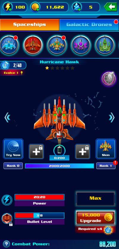 galaxy attack alien shooter upgrades