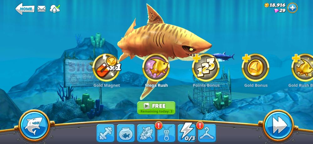 hungry shark world lightning bolt