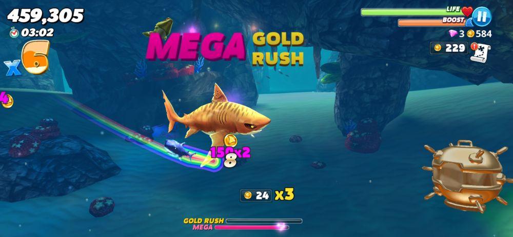 hungry shark world mega gold rush