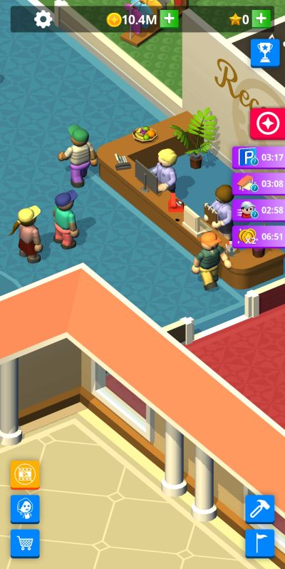 idle golf club manager tycoon ad boosts
