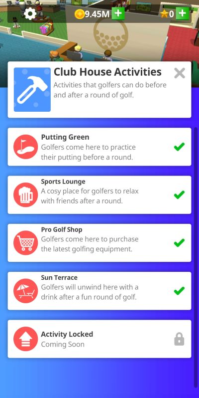 idle golf club manager tycoon idle cash