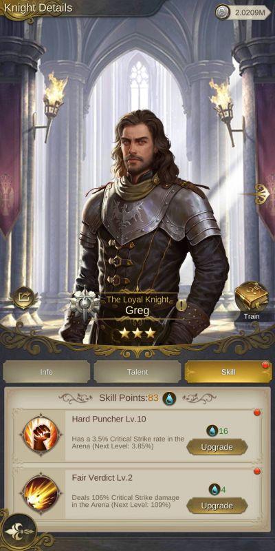 king's choice knight upgrades