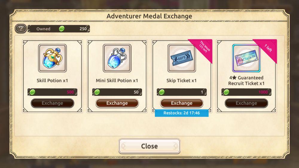 konosuba fanstastic days adventurer medal exchange