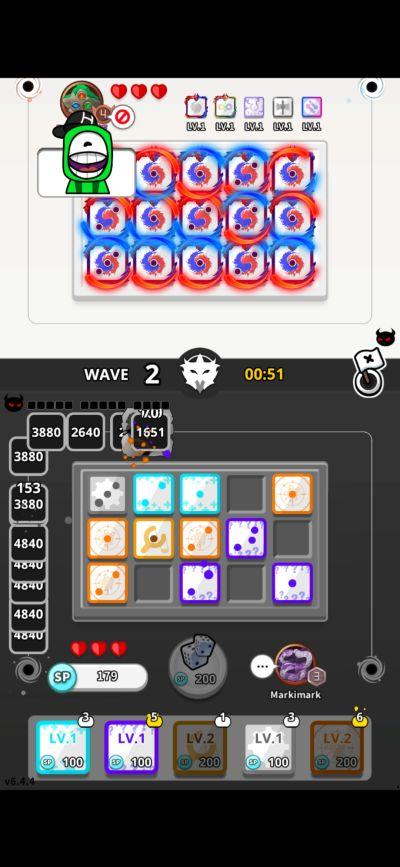 losing battle in random dice