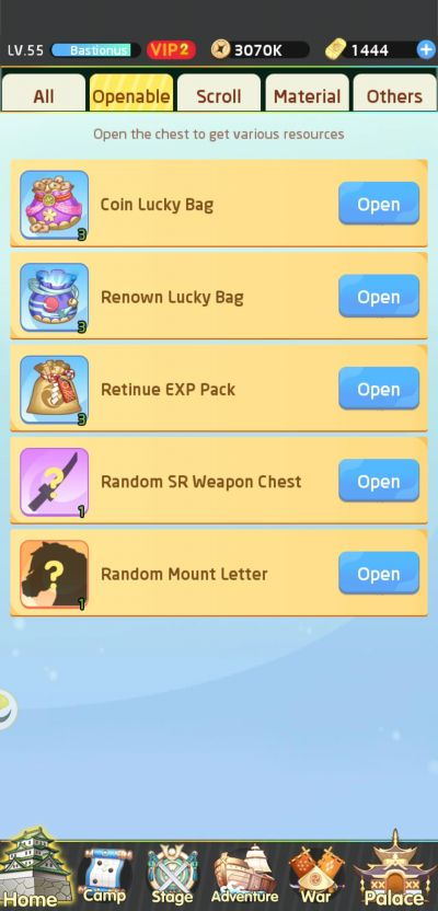 opening chest in lost paradise waifu connect