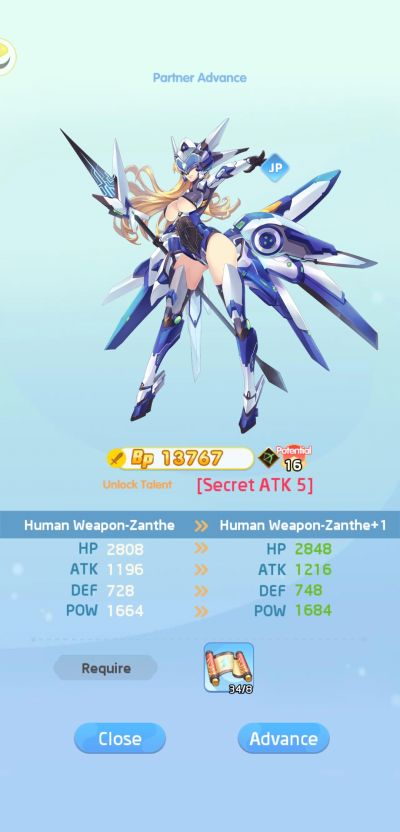 lost in paradise waifu connect partner advance