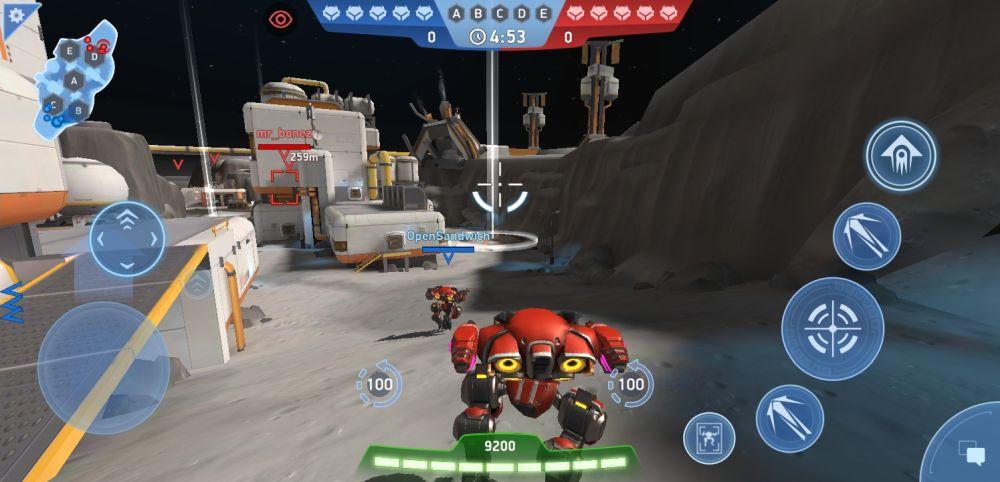 mech arena robot showdown control point