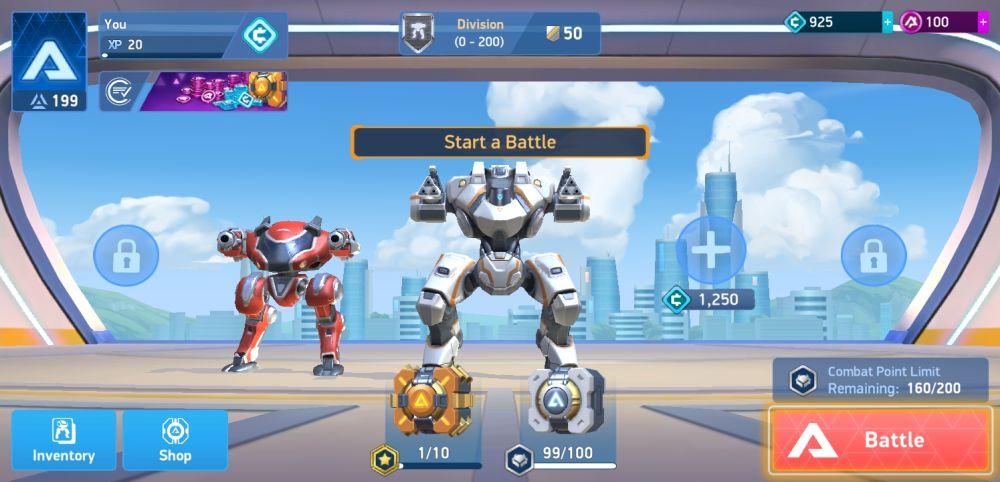 mech arena robot showdown hangar